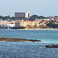 Lighthouse And British Colonial Hilton At Nassau by Ed Gleichman