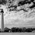 Lighthouse And Sky by John Hoesly