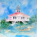 Lighthouse At Boca Grand Island Fl by Ernestine Vicari Stafford