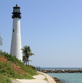 Lighthouse At Key Biscayne Florida  by Krista Kulas