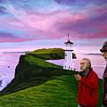 Lighthouse At Mykines Faroe Islands by Paul Meijering