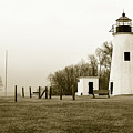 Lighthouse At Turkey Point by Dennis Dame