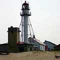 Lighthouse At White Fish Point Michigan by Vincent Duis