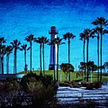 Lighthouse, Blue Lb by John R Williams