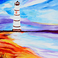 Lighthouse By The Sea by Art by Danielle