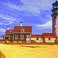 Lighthouse Cape Cod by Dominic Piperata
