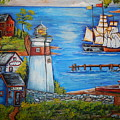 Lighthouse Cove by Theresa Prokop
