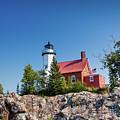 Lighthouse Eagle Harbor Lake Superior -6533 by Norris Seward