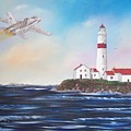 Lighthouse Fly By by Tony Rodriguez