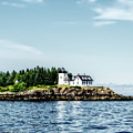 Lighthouse On Maine's Rocky Shores by Kay Brewer