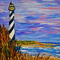 Lighthouse- Impressionism- The Coast by Kathy  Symonds