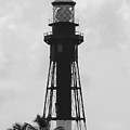 Lighthouse In Black And White by Rob Hans