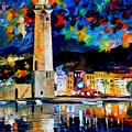 Lighthouse In Crete by Leonid Afremov