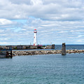Lighthouse In Michigan by Linda Kerkau