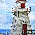 Lighthouse In St. John's Newfoundland by Tatiana Travelways