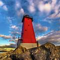 Lighthouse Manistique Sunset -5350 by Norris Seward