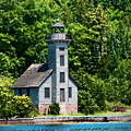 Lighthouse Munising Bay by David Arment