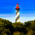 Lighthouse Of Saint Augustine by David Lee Thompson