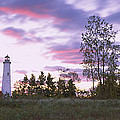 Lighthouse On A Landscape, Tawas Point by Panoramic Images