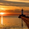 Lighthouse On Glass by Jeffrey Doty