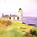 Lighthouse On The Isle Of May by Veron Miller