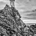 Lighthouse On The Rocks by James Billings