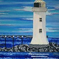 Lighthouse On The Shannon by Carolyn Cable