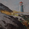 Lighthouse Peggys Cove Ns by Chris  Riley