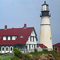 Lighthouse - Portland Head Maine by Frank Romeo