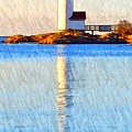 Lighthouse Reflection by Harriet Harding