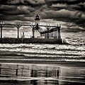 Lighthouse Reflections In Black And White by Scott Wood