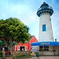 Lighthouse Seaside Cafe by Lynn Bauer