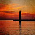 Lighthouse Silhouette  by Emily Kay