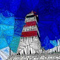 Lighthouse Stained Glass  by Mo Barton