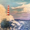 Lighthouse Under Lavender Sky by Diane Donati