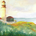 Lighthouse-watercolor by Marlene Book
