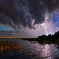 Lighting On The Lake by Rick Mann