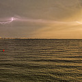 Lightning And Rainbow, Fort Myers Beach, Fl by Felix Lai