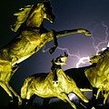 Lightning At Horse World Fine Art Print by James BO Insogna