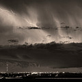 Lightning Cloud Burst Boulder County Colorado Im39 Sepia by James BO  Insogna
