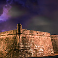 Lightning Over Castillo De San Marcos National Monument by Rob Sellers