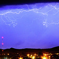 Lightning Over Loveland Colorado Foothills Panorama by James BO  Insogna
