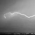 Lightning Over North Boulder Colorado  Ibm Bw by James BO Insogna