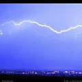 Lightning Over North Boulder Colorado  Poster Lm by James BO Insogna