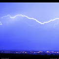 Lightning Over North Boulder Colorado  Poster Sp by James BO Insogna