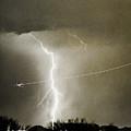 Lightning Storm City Lights Jet Airplane Fine Art Photography by James BO  Insogna