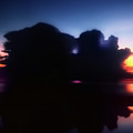 Lightning Strike Sunset by La Rae  Roberts