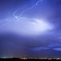 Lightning Strikes Over Boulder Colorado by James BO Insogna