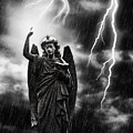 Lightning Strikes The Angel Gabriel by Amanda Elwell