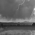 Lightning Striking Longs Peak Foothills 5bw by James BO  Insogna